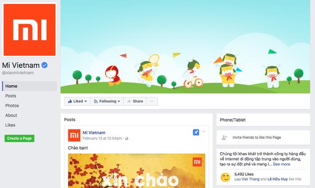 Fanpage chính thức của Xiaomi tại Việt Nam