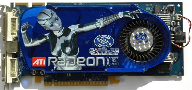 Radeon X1950 Pro. Lúc ra mắt nó có giá cả chục triệu Đồng, bằng tiền mua hầu hết tất cả những phần cứng PC kể trên cộng lại.