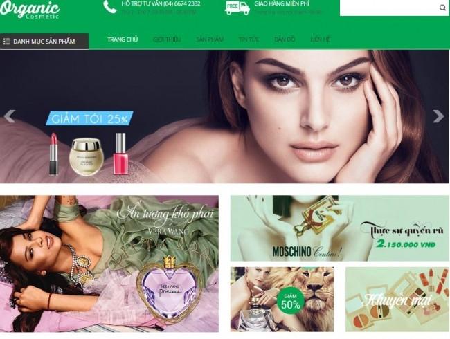 Giao diện tham khảo với giải pháp thiết kế web mỹ phẩm