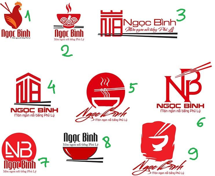 thiết kế logo quán phở ngọc bình