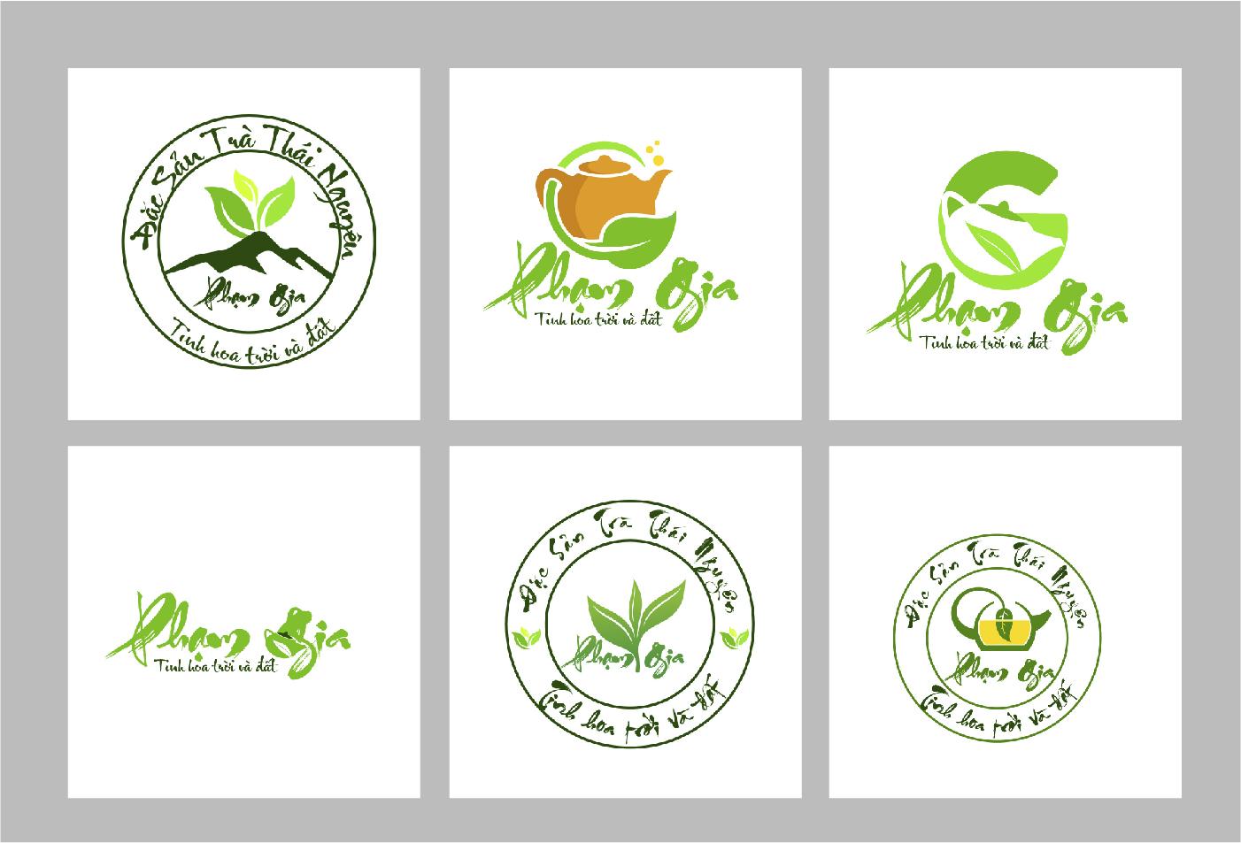 thiết kế logo công ty trà xanh