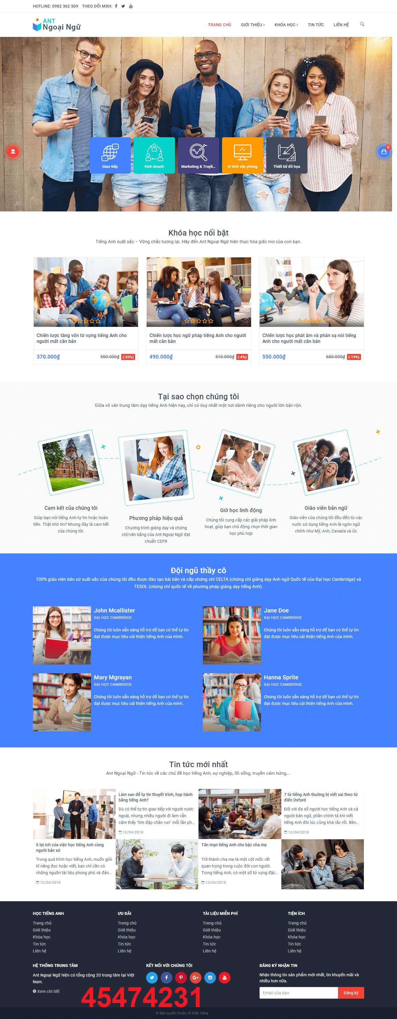 Mẫu web giáo dục 45474231