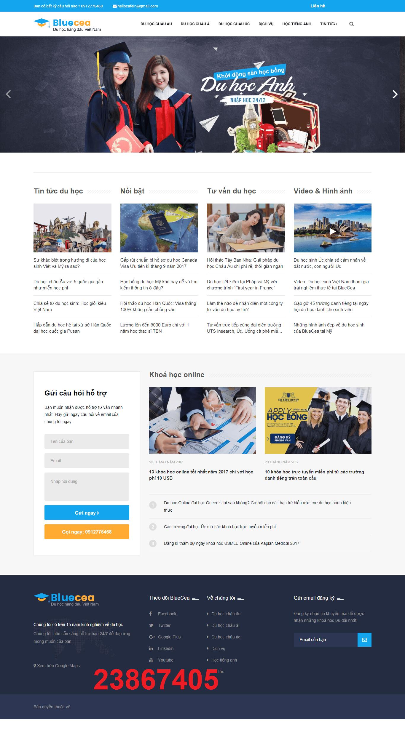 Mẫu web du học BlueCea 23867405