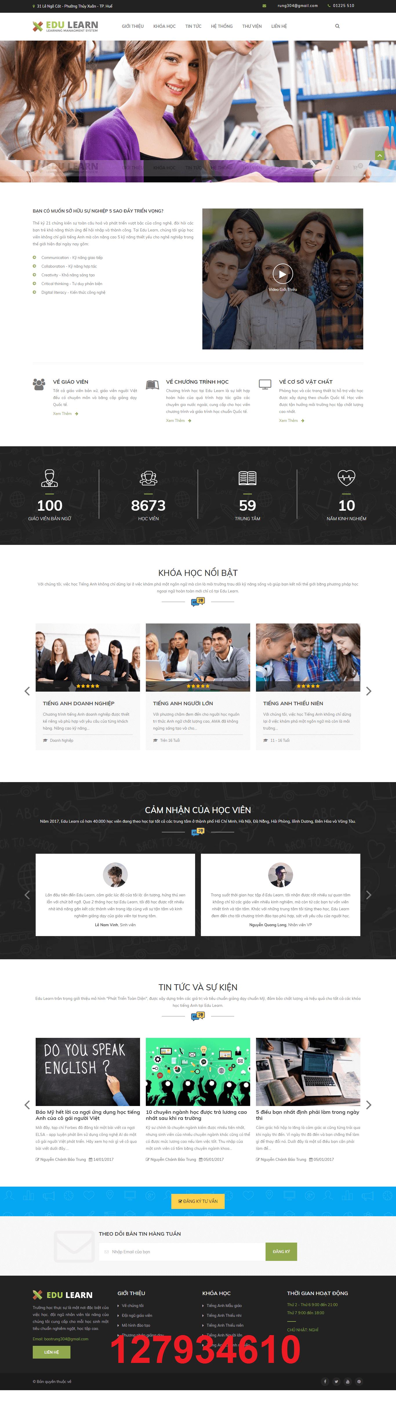 Mẫu web du học edu learn 127934610