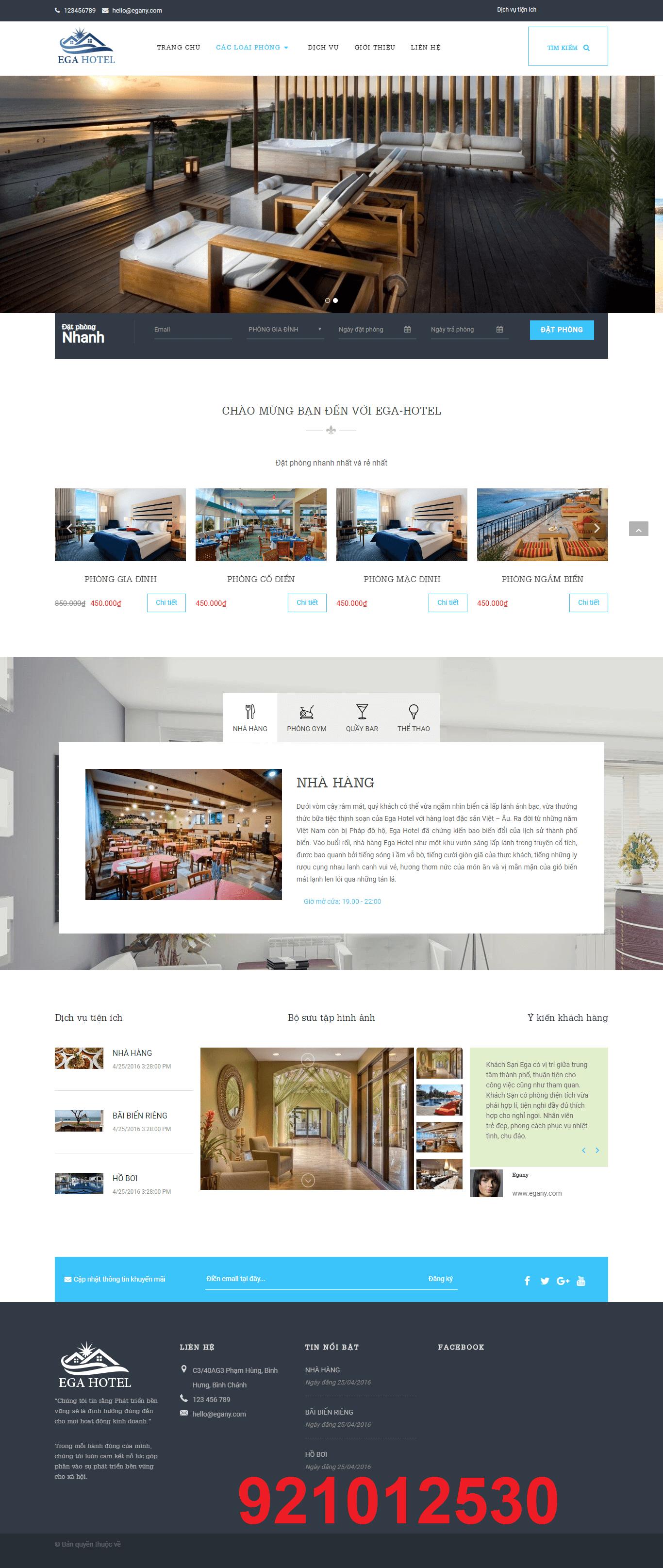 Mẫu web EGA HOTEL 921012530