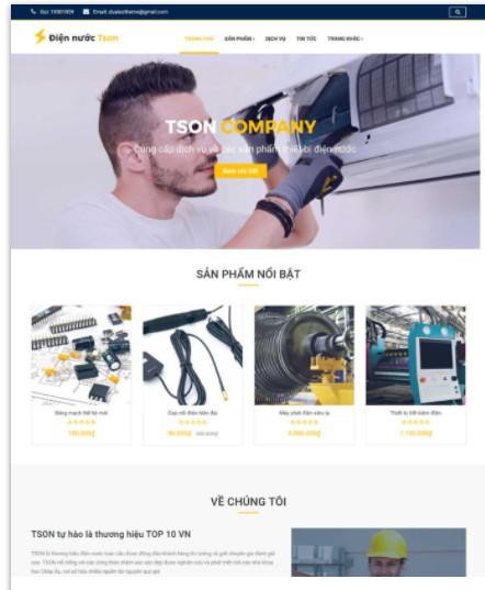 giá thiết kế web công ty bán hàng