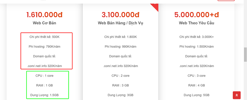 Thiết kế web 500k - thietkewebchuyen