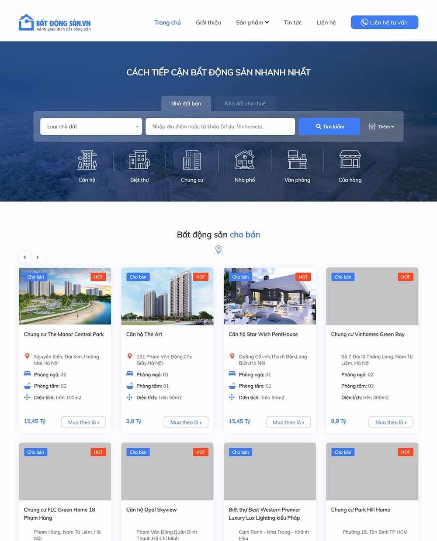 Thiết kế website bất động sản cho người môi giới - thietkewebchuyen