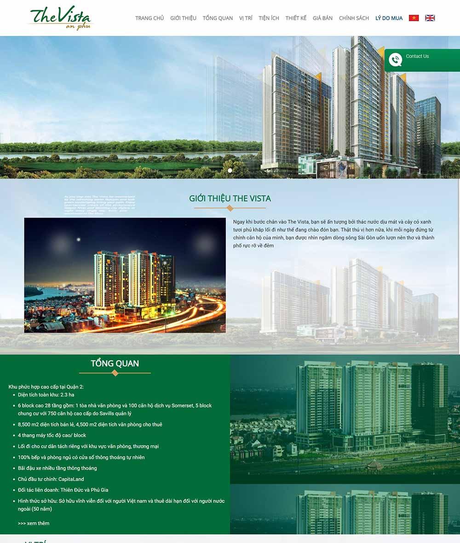 Thiết kế website bất động sản giới thiệu dự án - thietkewebchuyen
