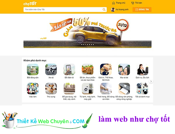 thiet ke web chotot - thietkewebchuyen