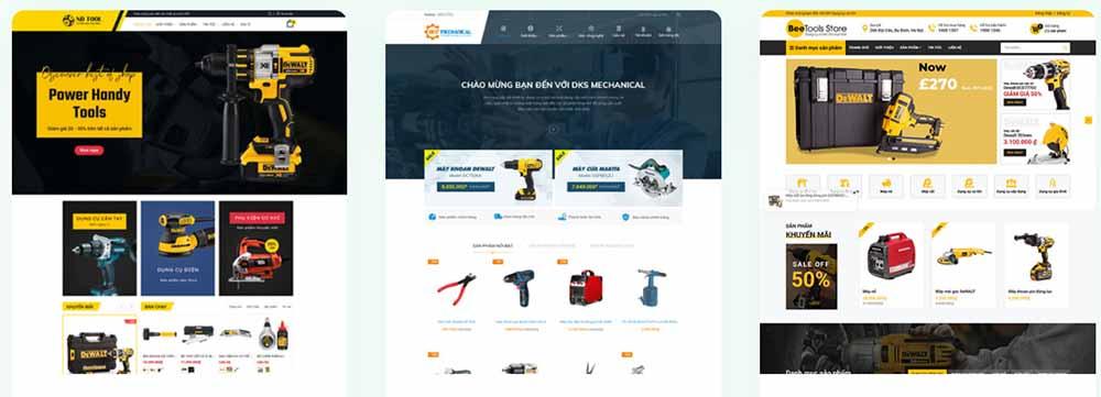 Thiết kế web công ty cơ khí - thietkewebchuyen