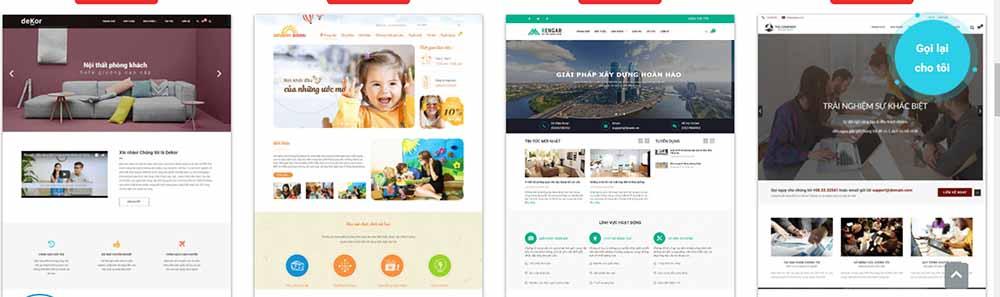 Thiết kế web công ty dịch vụ - thietkewebchuyen
