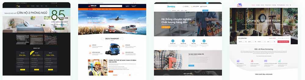 Thiết kế web công ty xây dựng - thietkewebchuyen