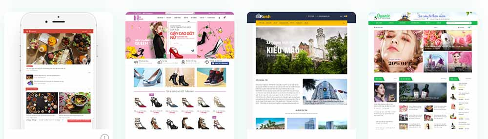 Thiết kế web sàn thương mại điện tử bán hàng - thietkewebchuyen
