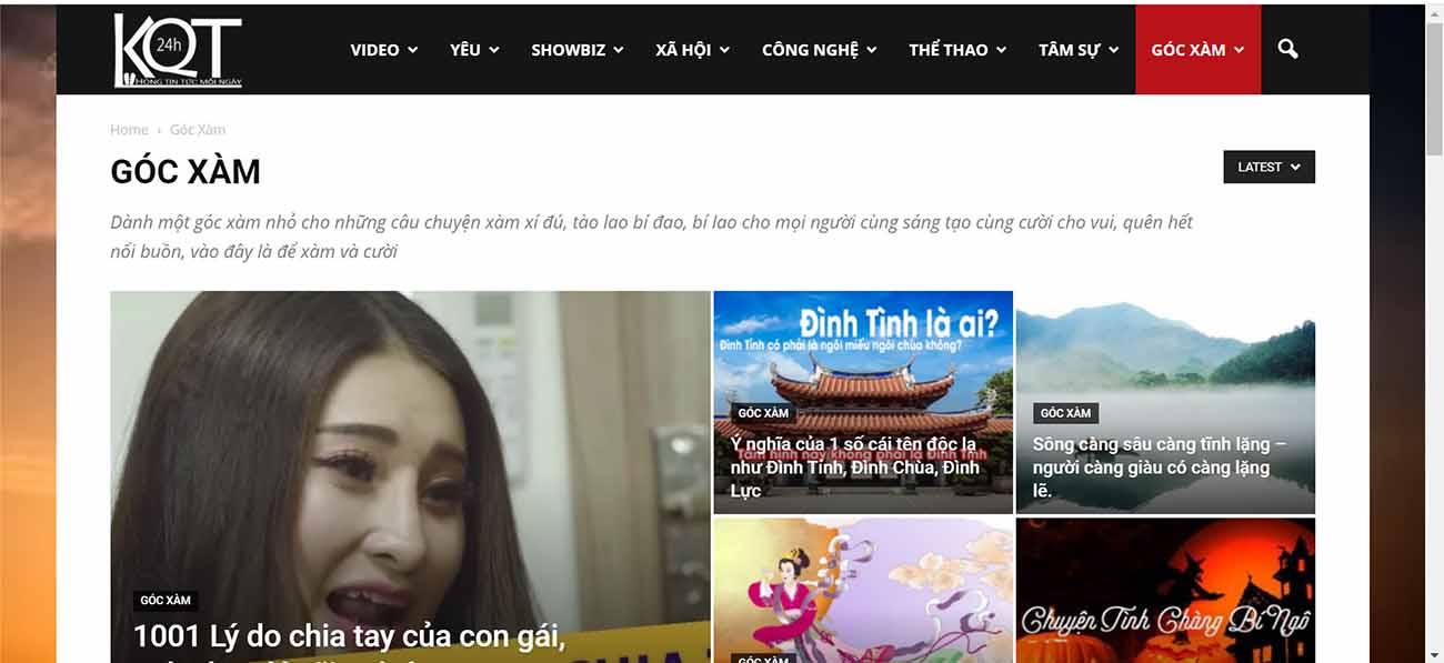 Thiết kế web tin tức - thietkewebchuyen